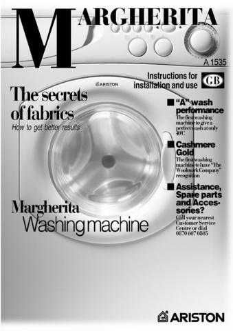 Ariston A-1636 Washer Operating Guide by download Mauritron #306767