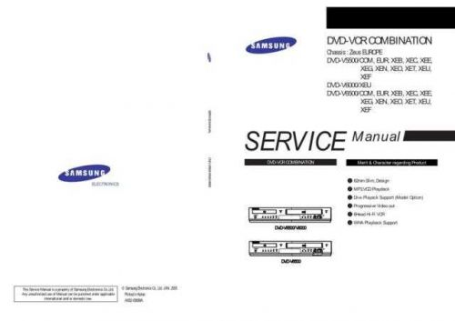 Samsung DVD-V5500 6000 6500 Operating Guide by download Mauritron #331572