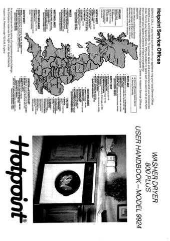 Hotpoint 9924 Washer Operating Guide by download Mauritron #307454