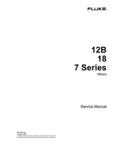 Fluke 18 Service Manual by download Mauritron #316002