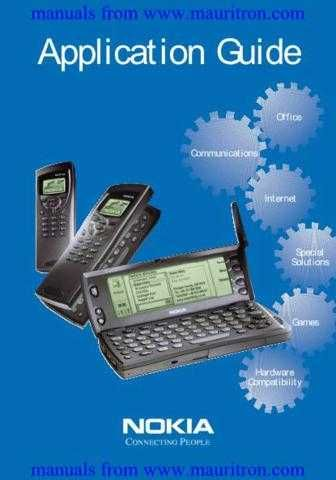 Nokia 9000 Series Application Guide by download Mauritron #306139