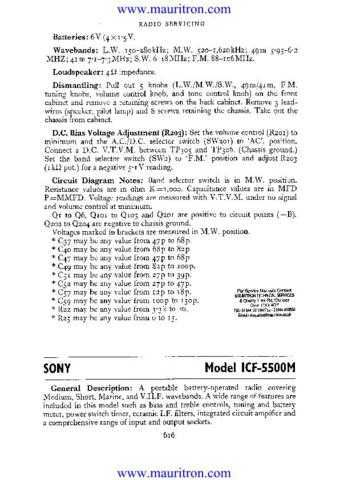 Sony ICF-SW7600 by download Mauritron #315824