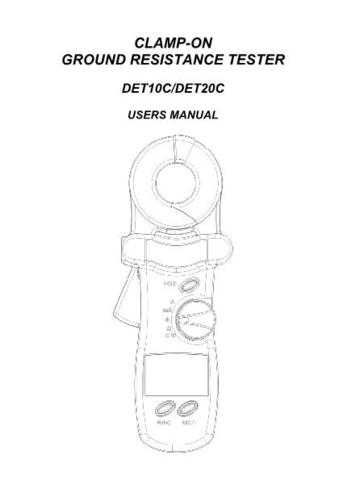 AVO DET20C Operating Guide by download Mauritron #309036