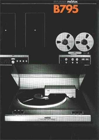 Revox B795 Operating Guide by download Mauritron #313041