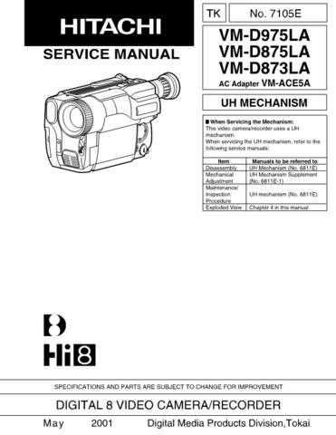 Hitachi VM5000A2 Service Manual by download Mauritron #286722