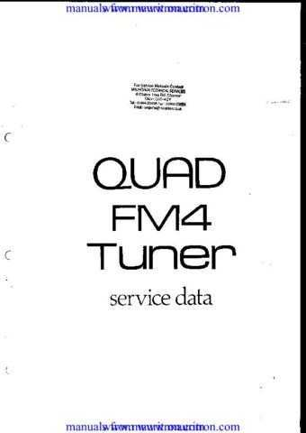QUAD FM4. TUNER. WSM. A6481 by download Mauritron #312180