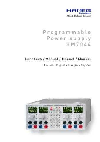 Hameg HM7044 Operating Guide in Spanish by download Mauritron #307223
