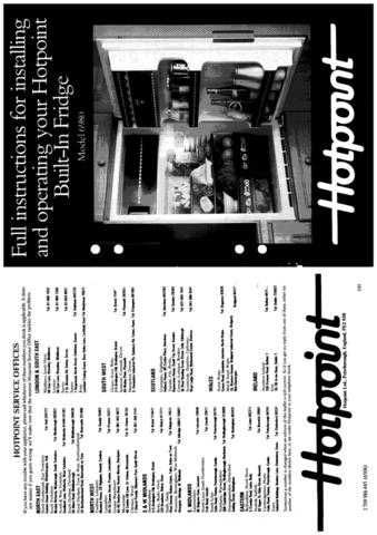 Hotpoint 6980 Refrigeration Operating Guide by download Mauritron #313316