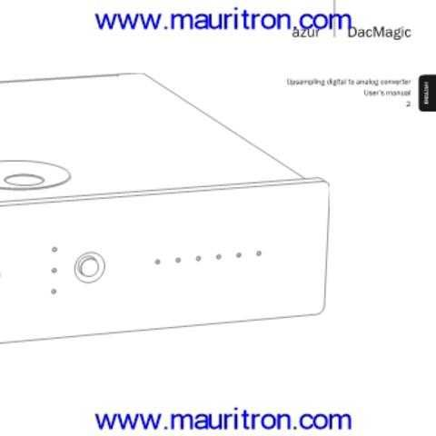 Cambridge Audio DacMagic Instruction Guide with Schematic (3) by download Mauritron #