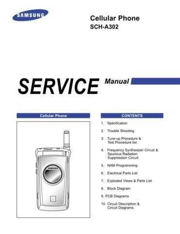 Samsung SCH-A302 Mobile Phone Service Manual by download Mauritron #306261