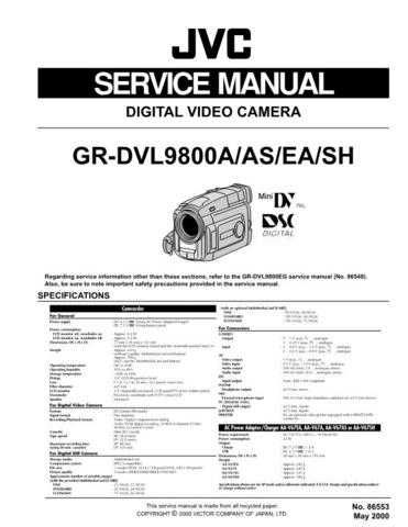 JVC JVCGRDX27-97sve Service Manual by download Mauritron #274745