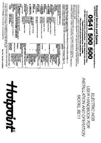 Hotpoint HBBE11 Operating Guide by download Mauritron #312061