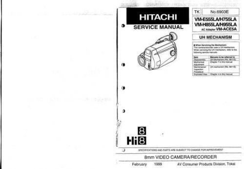 Hitachi VM-E110E-E210E-310E-410-710E Service Manual by download Mauritron #286812