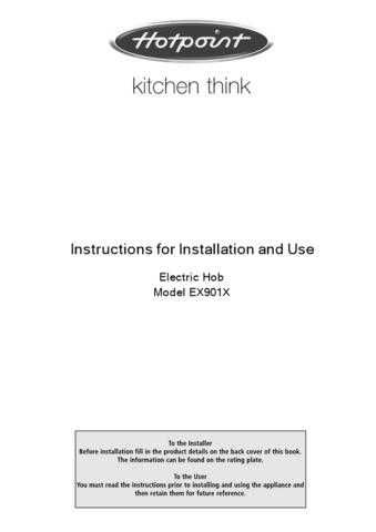 Hotpoint EX-901X Cooking Operating Guide by download Mauritron #313600