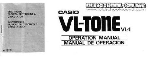 CasioVL1 Manual by download #333299