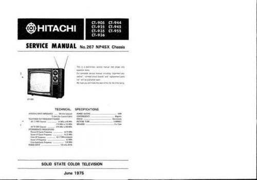 Hitachi CT948 Service Manual by download Mauritron #289724