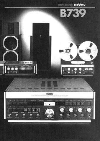 Revox B739 Operating Guide by download Mauritron #313027