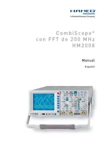 Hameg HM2008 Operating Guide in Spanish by download Mauritron #307122