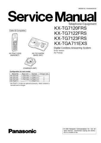 Panasonic TG7120FR Manual by download Mauritron #302291