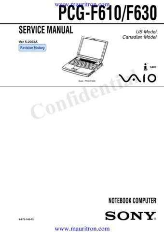 Sony PCG-F610-630 Service Manual by download Mauritron #316311