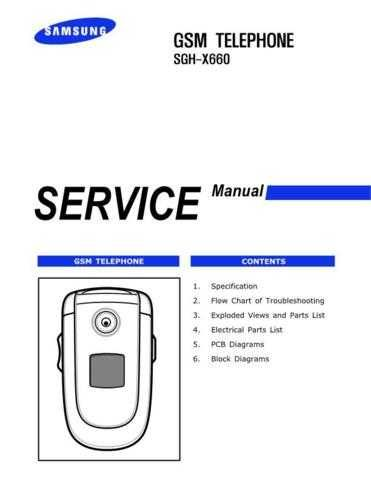 Samsung SGH-X660 Mobile Phone Service Manual by download Mauritron #306477