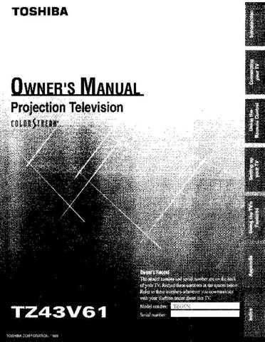 Toshiba tz43v61 Operating Guide by download Mauritron #306617
