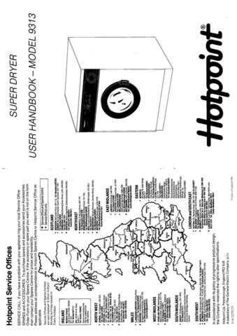 Hotpoint 9313 Dryer Operating Guide by download Mauritron #313377