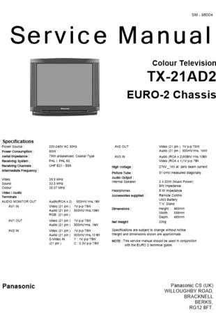 Panasonic TX-21-14GV1 Manual by download Mauritron #302468