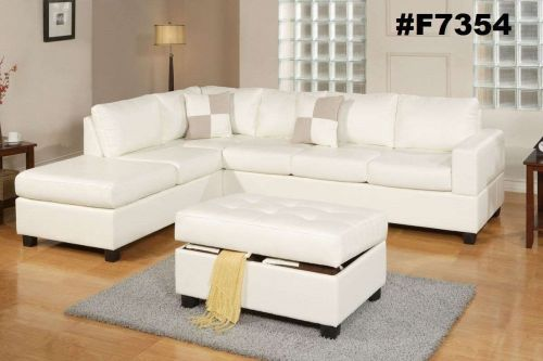 Sectional sofa sectionals with reversble L/R chaise sofa couch 3 Pc set #F7354