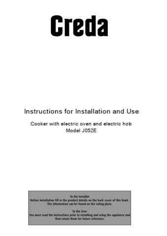 Creda J052E_04050700 Operating Guide by download Mauritron #312998
