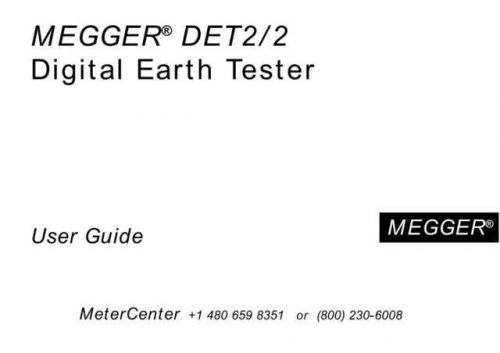 Biddle DET-2 Operating Guide by download Mauritron #309616