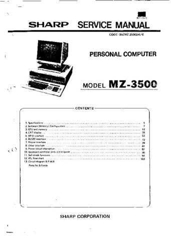SHARP mz3500 gr by download Mauritron #329924