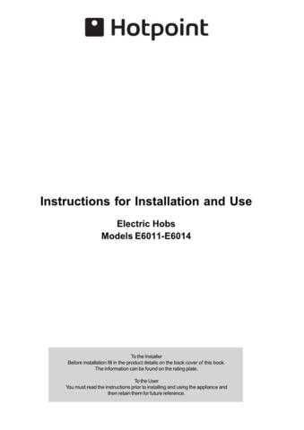 Hotpoint E6014 E6011 Operating Guide by download Mauritron #311956