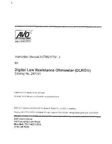 AVO 24-78J Operating Guide by download Mauritron #308759