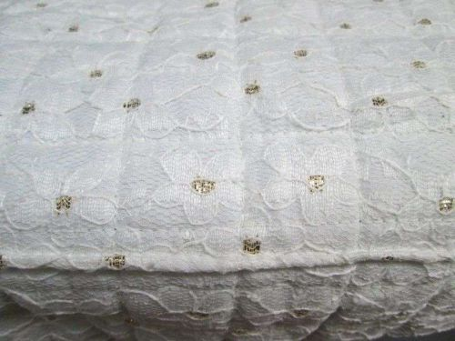 """Slipcover Protector Bench Stool Cover Golden Dots Overlay Lace 14""""x 58"""" Luxury"""