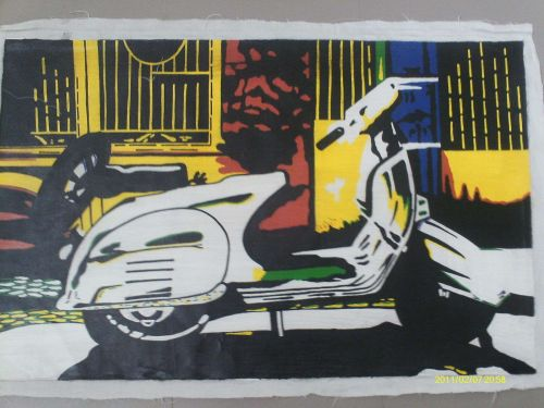 Vesper Print Painting on canvas. Print but hand painted to finish.unframed