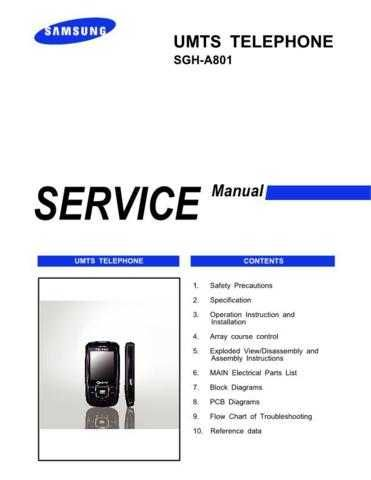 Samsung SGH-A801 Mobile Phone Service Manual by download Mauritron #306283