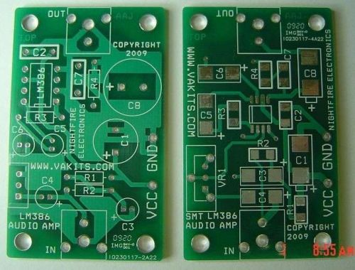 SMT & Thru-Hole Audio Amplifier Kits w/ 2 PCBs (#1705)