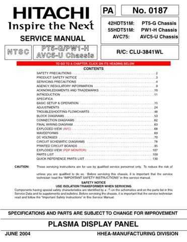Hitachi AVC75 Service Manual by download Mauritron #288562