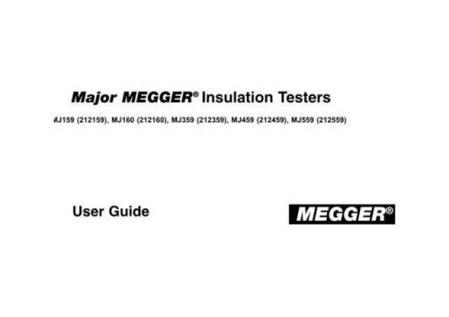Megger 21-81J a Operating Guide by download Mauritron #310002