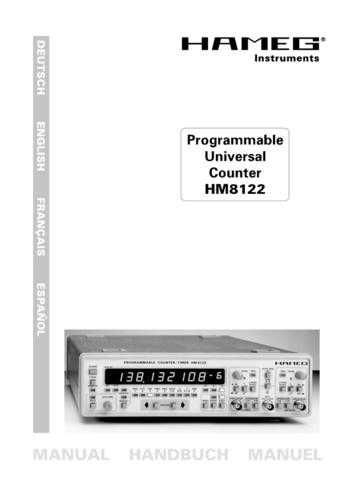 Hameg HM8122 Operating Guide in Spanish by download Mauritron #307280