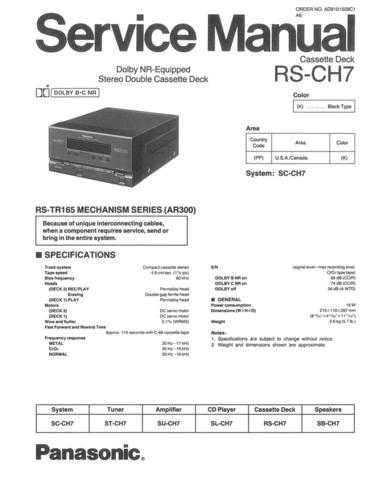 Panasonic RS-CH404 Manual by download Mauritron #301631