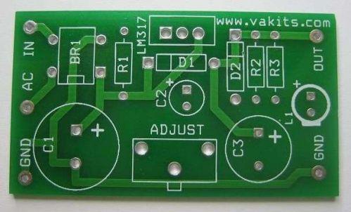 Adjustable Power Supply Kit - LM317 (#1725)