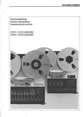 Revox C274-C278 Service Manual by download Mauritron #313048