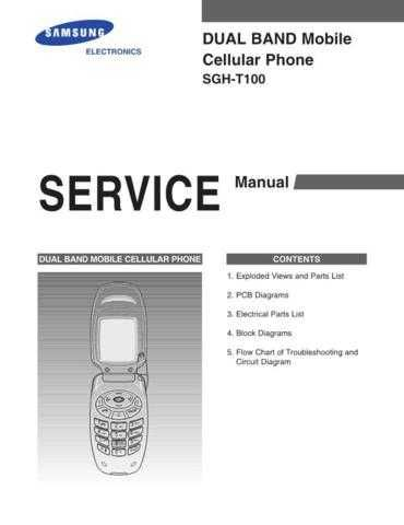 Samsung SGH-T100 Mobile Phone Service Manual by download Mauritron #306430