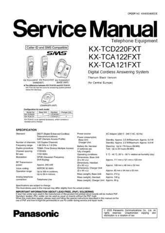 Panasonic TCD220FX(1) Manual by download Mauritron #301995