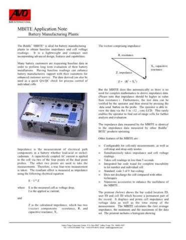 Biddle Megger Insulation Tester Operating Guide by download Mauritron #309682