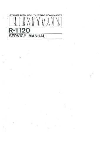 Luxman R1120 Manual by download Mauritron #306094