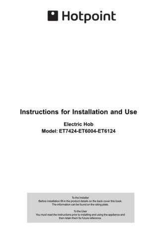 Hotpoint ET7424 ET6004 ET6124 19504366303 Operating Guide by download Mauritron #3119