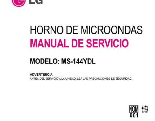 LG MS-144YDL Manual by download Mauritron #305815